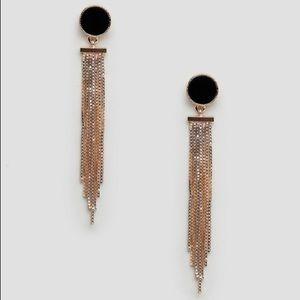 ASOS Drop Earrings with Black Stud Detail